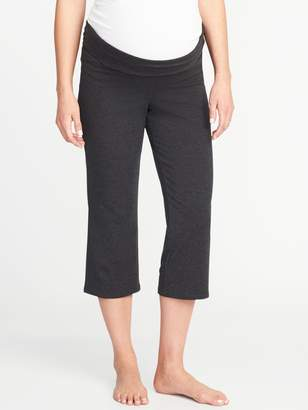 Old Navy Maternity Roll-Over Wide-Leg Yoga Crops