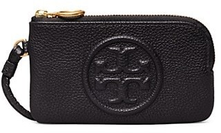 Tory Burch Perry Bombe Leather Zip-Top Card Case