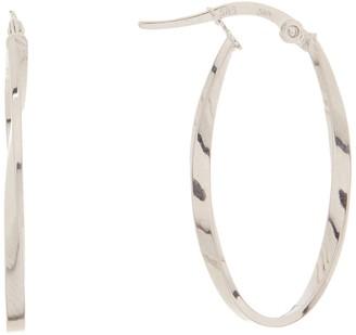 Breuning 14K White Gold 30mm Hoop Earrings
