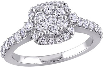 Affinity Diamond Jewelry Affinity 9/10 cttw Diamond Vintage Halo Engagement Ring, 14K