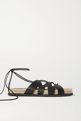 3.1 Phillip Lim + Space For Giants Yasmine Leather Espadrille Sandals - Black