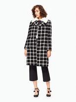 Kate Spade Faux fur collar tweed coat