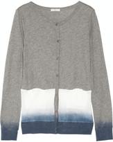 Clu Cotton-jersey and mesh cardigan