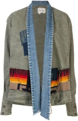 Greg Lauren Oversized Patchwork Cargo Jacket