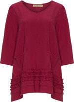 Isolde Roth Plus Size Ruffle detail tunic