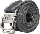 AUBIG Double Ring Buckle Outdoor Man Waistband Handmade Waist Canvas Leather Belt