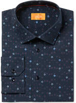 Tallia Men's Fitted Jacquard Mini Flowers On Solid Ground Dress Shirt