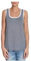 Sun 68 Women's Blue Linen Tank Top.