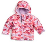 The North Face 'Mossbud' Reversible Water Repellent Jacket (Baby Girls)