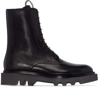 Givenchy combat lace-up ankle boots