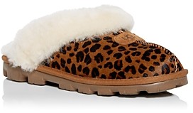 UGG Women's Coquette Leopard Print Calf Hair & Shearling Slippers