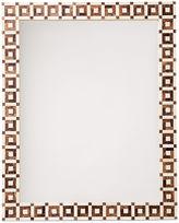 One Kings Lane Geo Bone Wall Mirror, Brown