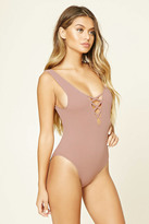 Forever 21 FOREVER 21+ Cutout-Front Seamless Bodysuit