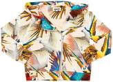 Molo Parrots Print Hooded Cotton Sweatshirt
