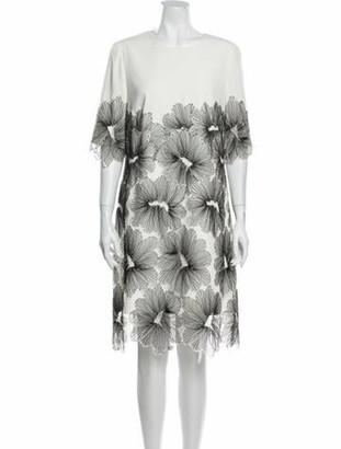 Lela Rose Printed Knee-Length Dress Rose