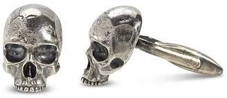 John Varvatos Collection Sterling Silver Skull Cufflinks
