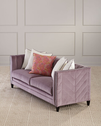 Old Hickory Tannery Zoey Channel Tufted Sofa, 85""