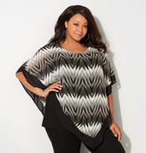 Avenue Neutral Geo 2fer Poncho