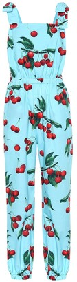 Dolce & Gabbana Exclusive to Mytheresa Cherry printed cotton jumpsuit