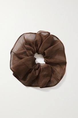 Sophie Buhai Silk-organza Hair Tie - Brown