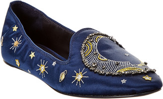 Tory Burch Olympia Embroidered Satin Loafer