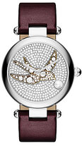 Marc Jacobs Dotty Pave & Pearl Sparrow Analog Leather-Strap Watch