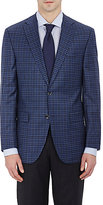 Piattelli MEN'S CHECKED TWO-BUTTON SPORTCOAT-BLUE SIZE 40 R