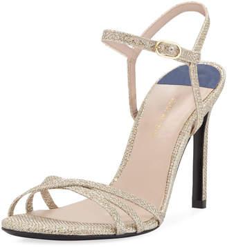 Stuart Weitzman Starla High-Heel Glittered Sandals