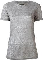Isabel Marant round neck T-shirt - women - Linen/Flax - XS