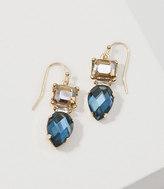 LOFT Multifaceted Crystal Drop Earrings