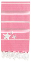 Linum Home Textiles Turkish Cotton Lucky Glittery Starfish Pestemal Beach Towel