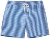 Hartford Mid-Length Striped Cotton-Blend Swim Shorts