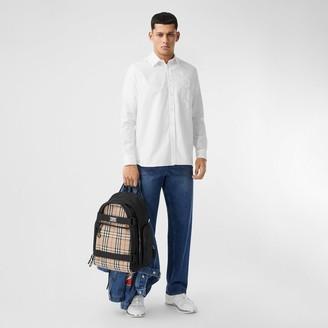 Burberry Print Cotton Oxford Oversized Shirt
