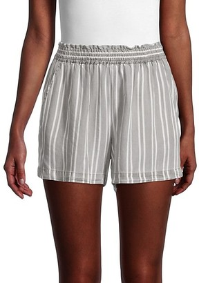 Pure Navy Striped Shorts