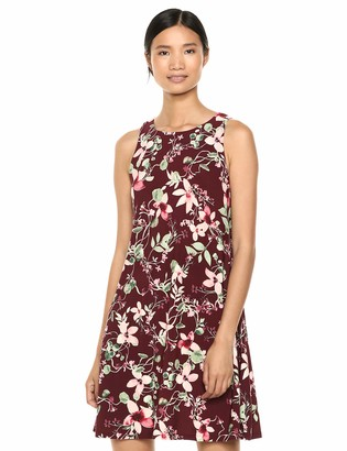 Chaps Women's Sleevless Floral Printed Georgette Dress