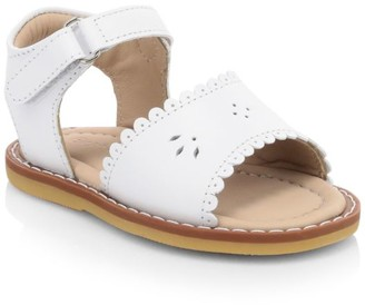 Elephantito Baby Girl's Scallop Leather Sandals