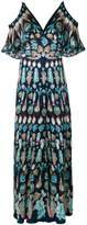 Temperley London cold shoulder maxi dress