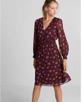 Express floral smocked waist midi dress