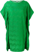 M Missoni metallic zip zag dress - women - Polyester/Cotton/Viscose/Polyamide - M