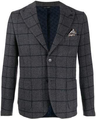 Daniele Alessandrini windowpane check blazer