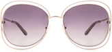 Chloé Carlina Square Sunglasses