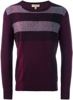 Burberry striped crew neck jumper