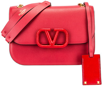 Valentino Small VSling Chain Shoulder Bag in Rock Pink & Rouge Pur | FWRD
