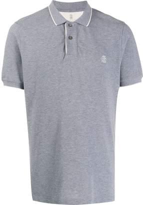 Brunello Cucinelli logo embroidery polo shirt