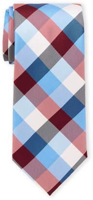 Nautica Red Pacific Plaid Tie