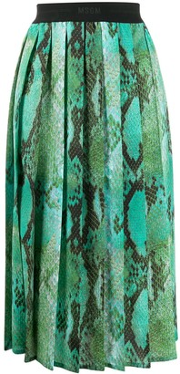 MSGM Snakeskin Effect Pleated Skirt