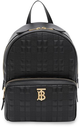 Burberry monogram plaque quilted backpack
