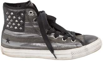 Converse Grey Cloth Trainers