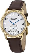 Stuhrling Original Mens Brown Strap Watch-Sp12923