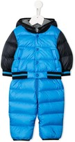Moncler hooded padded snowsuit